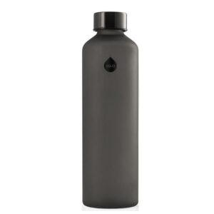 Melna stikla ūdens pudele