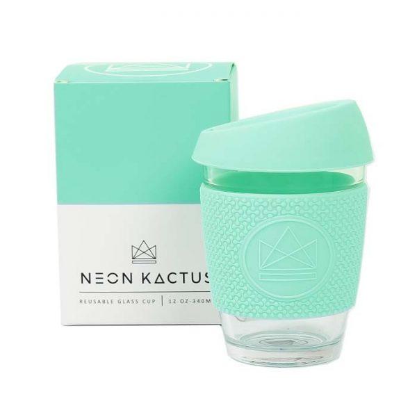 Stikla kafijas krūze Neon Kactus Mint 340ml