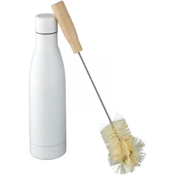 Vasa vacuum botlle with brush white 500ml