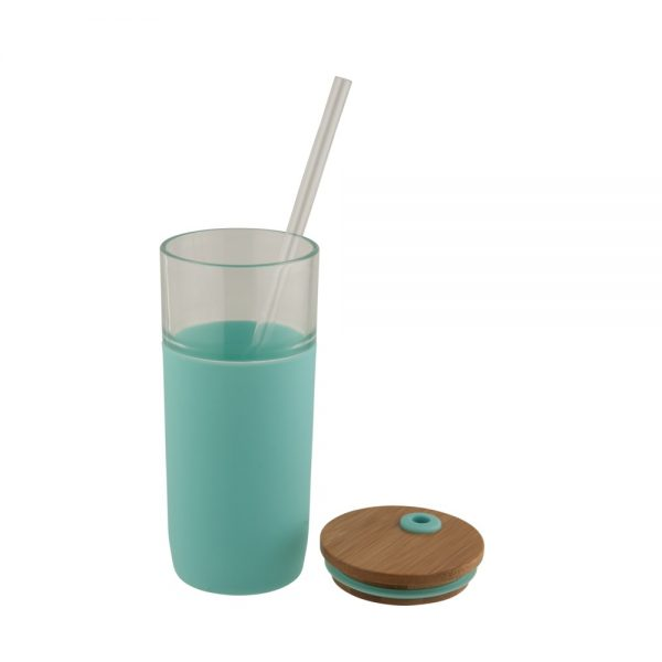 ARLO stikla glāze ar bambusa vāciņu