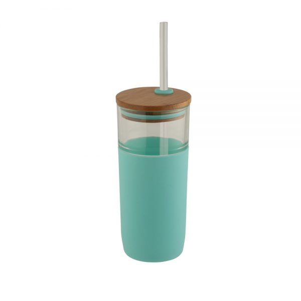 ARLO stikla glāze ar salmiņu
