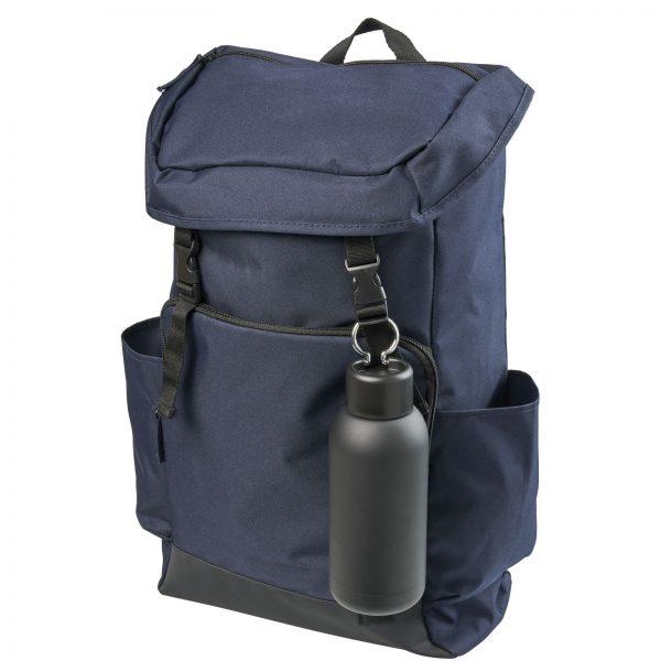 BREA melna ūdens pudele pie mugursomas, 375ml