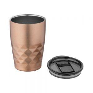 Šampanieša krāsas termoglāze GEO ar plastmasas vaciņu