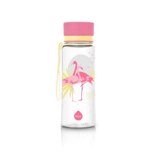 equa flamingo 400ml ūdens pudele