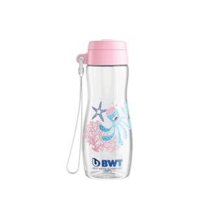 Bērnu Bērnu ūdens pudele bwt rozā 375ml